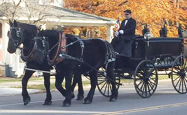 The FE Brown Sons 1850s-style Glass-sided Horse-drawn Hearse