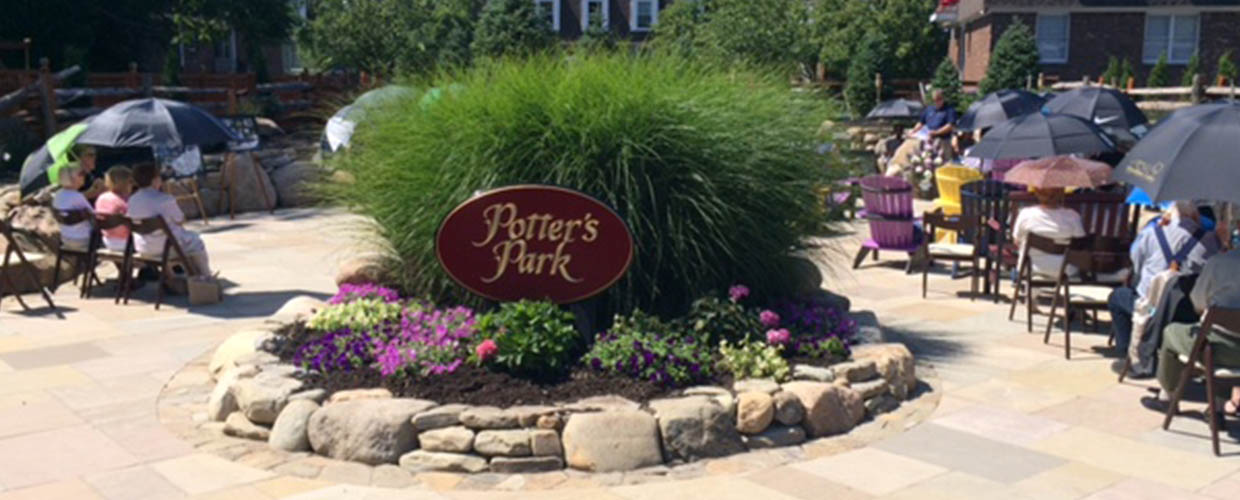 A View of Potter's Park at FE Brown & Sons Funeral Home