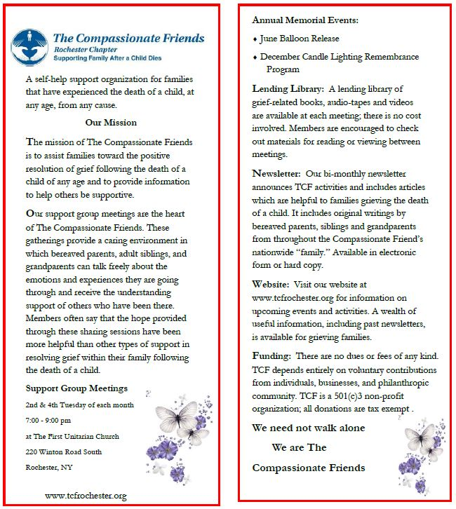 The Compassionate Friends Rochester Info - Click to View Full Size