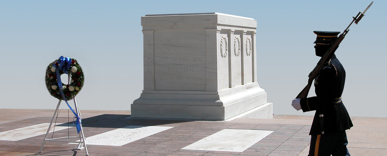 A Sentinel Guards the Tomb of the Unknowns