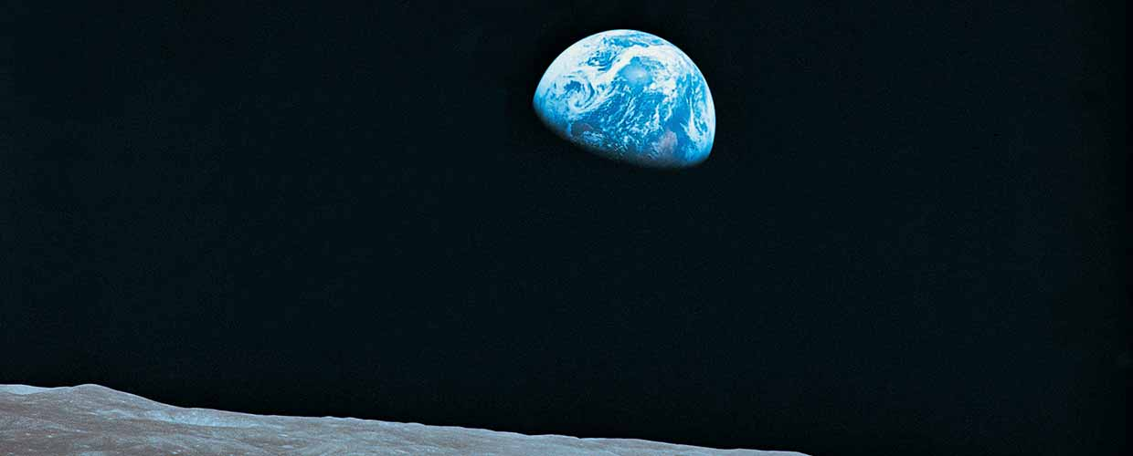 Image of Earth as seen from the Moon