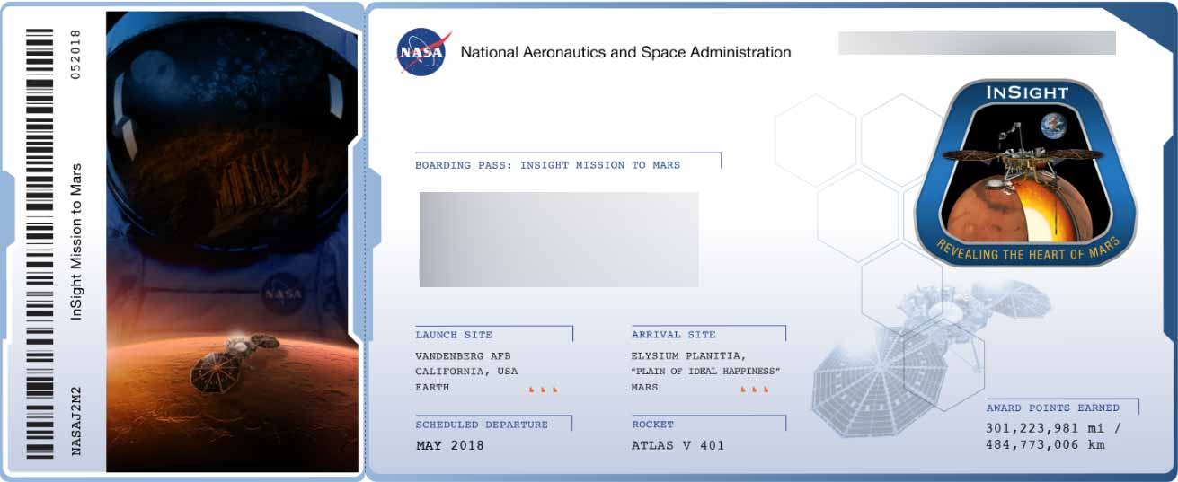 "View of a ""Boarding Pass"" Provided by NASA"