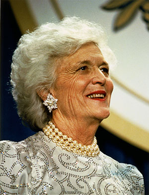 Barbara Bush. Image from the Library of Congress