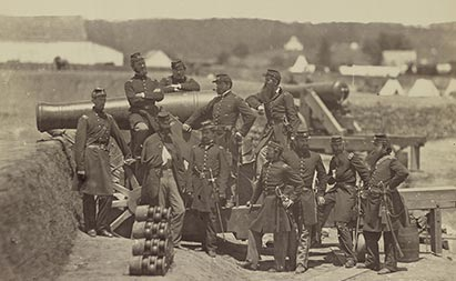 Members of the 69th New York State Militia, 1861 - 1865, Image from the Library of Congress