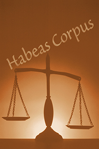 Habeas Corpus and Scales of Justice rendering