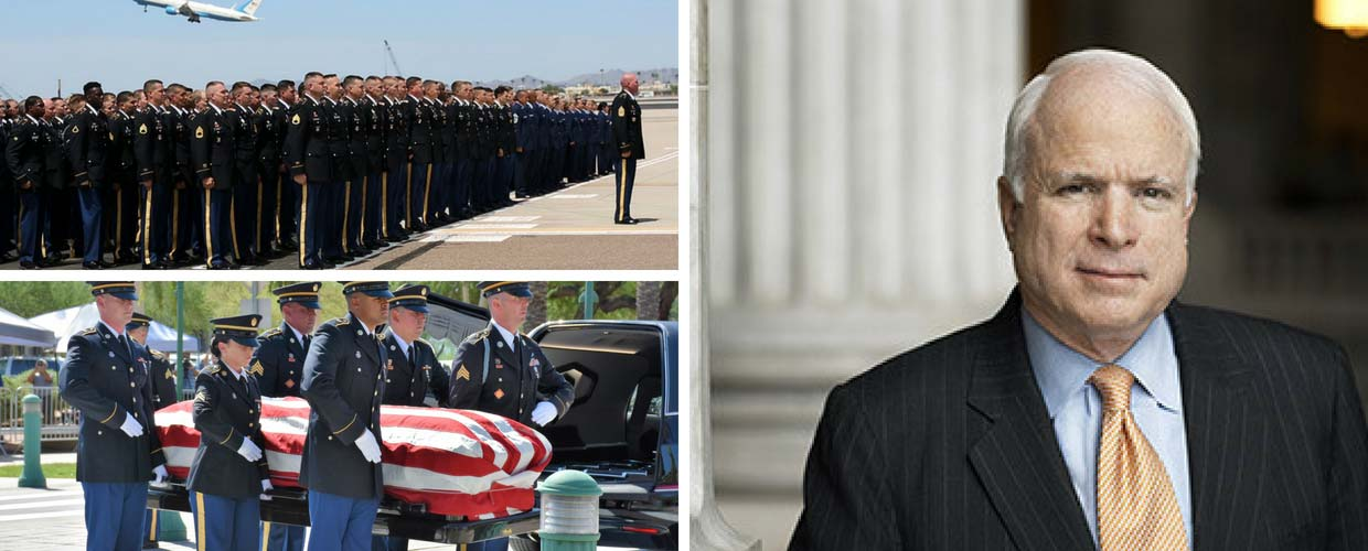 Family, friends and the Nation Honor Veteran, former POW, the Late Senator John S. McCain