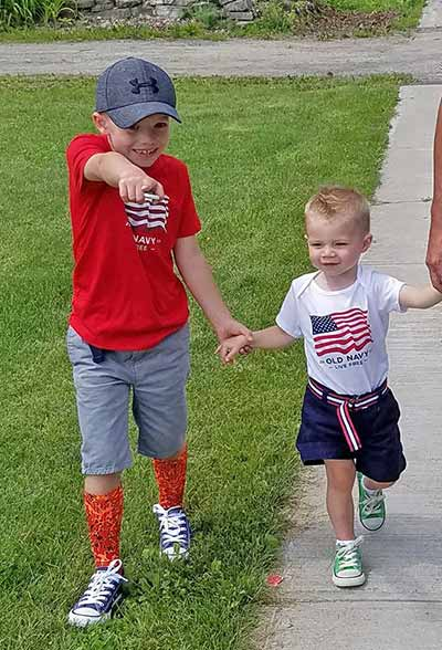 Nicole LaRue's Sons Zakkary and Alexander