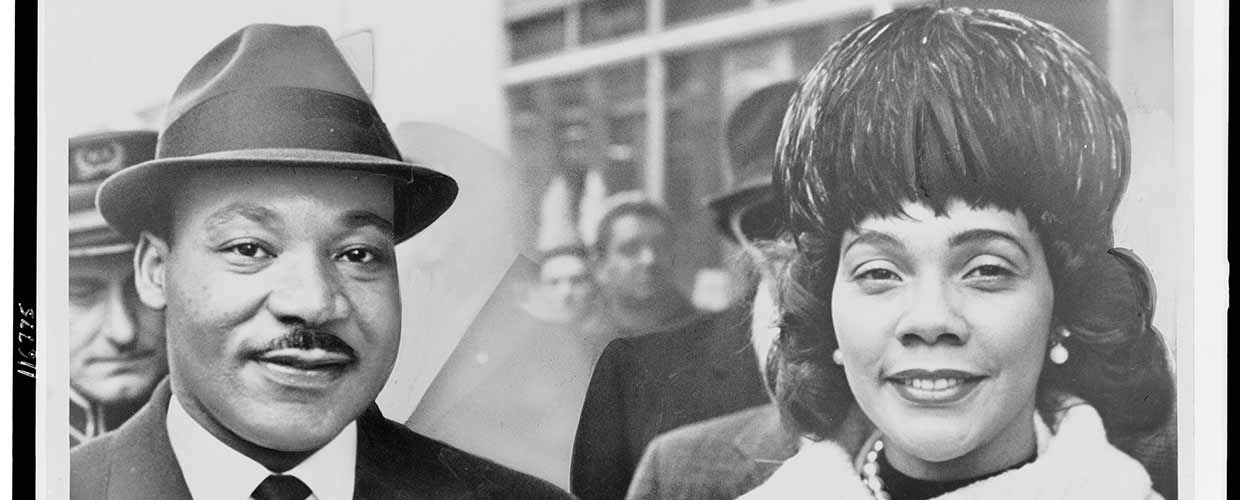 Martin Luther King Jr. and wife Coretta Scott King