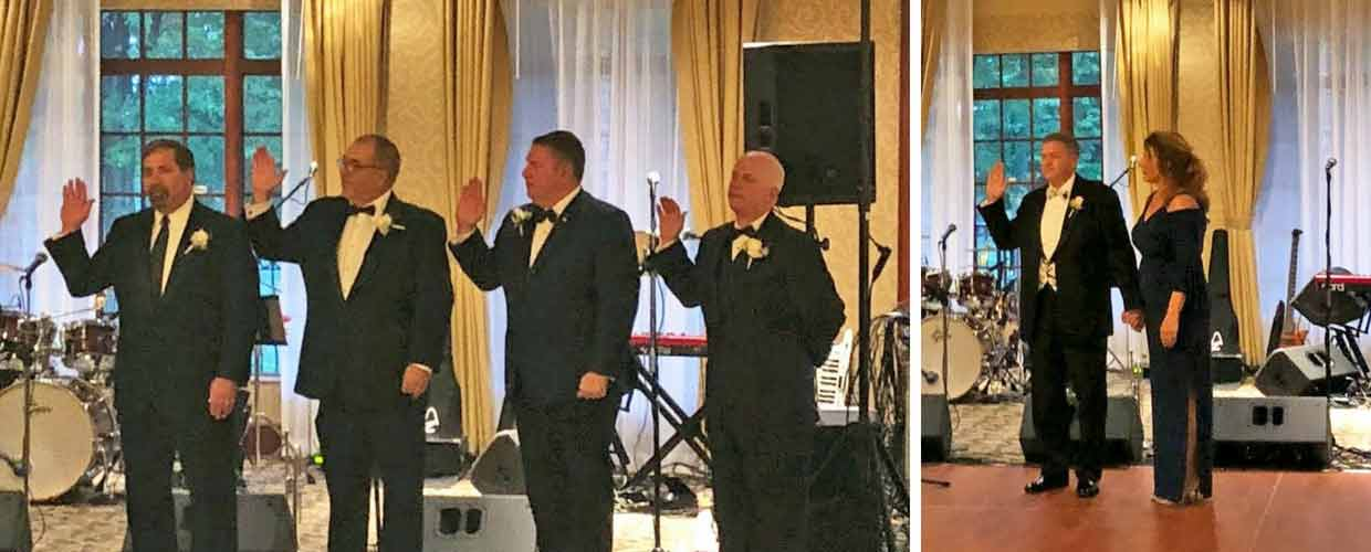 Image shows NYSFDA's New Officers Being Sworn in at the 2018 NYSFDA Convention